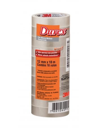 DUREX TRANSPARENTE 12MM X 10M COM10