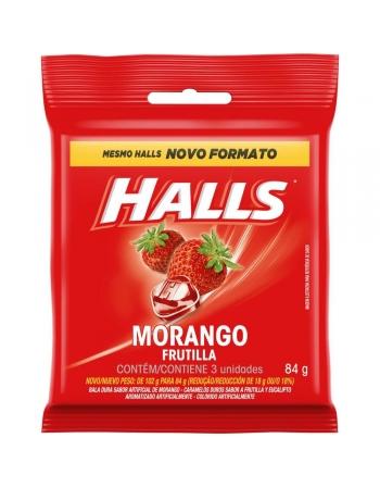 HALLS BAG MORANGO 84G