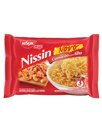 NISSIN LÁMEN CAMARAO COM ALHO 85G