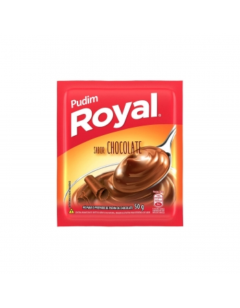 PUDIM ROYAL CHOCOLATE 12 UNIDADES DE 50G