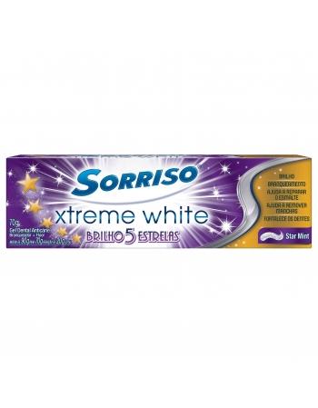 CREME DENTAL SORRISO XTREME WHITE BRILHO 5 ESTRELAS STAR MINT 70G