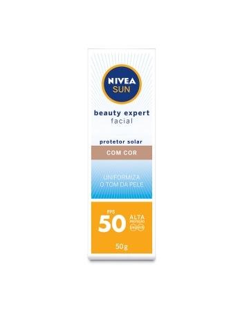 NIVEA SUN BEAUTY EXPERT FACIAL COM COR FPS 50