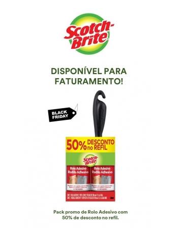 ROLO ADESIVO SCOTH BRITE + REFIL