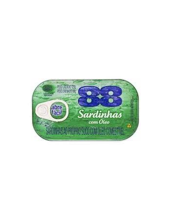 SARDINHAS COM ÓLEO 125G
