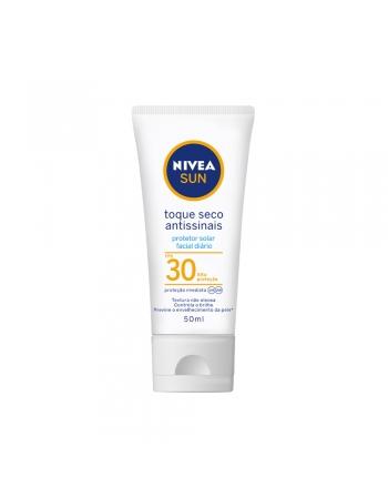 NIVEA SUN FACIAL TOQUE SECO ANTISSINAIS FPS30 50ML