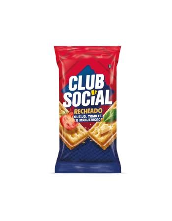 CLUB SOCIAL RECHEADO QUEIJO E TOMATE 4 UNIDADES DE 26,5G