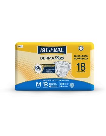 BIGFRAL DERMA PLUS ECONÔMICA M 4X18UN