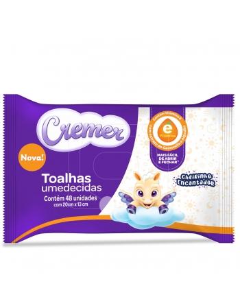 CREMER TOALHA UMEDECIDAS VITAMINA E